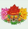 Paper flower skull vector