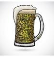 Doodle beer vector