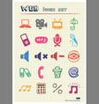 Internet media and network web icons set vector