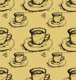 Seamless coffee pattern background vector
