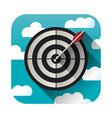 Target practice icon vector