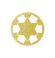 Six point star created with arrows symbol with vector