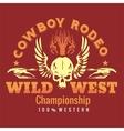 Wild west - cowboy rodeo emblem vector