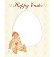 Easter rabbit card vector