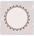 Background of round floral vintage frame vector