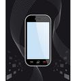 Generic smart phone on black vector