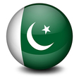 A ball with the flag of pakistan vector