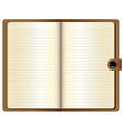 A leather notebook on white background vector
