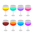 Isolated wine glasses set vector