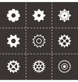 Black gear icons set vector