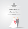 Just married wedding couple vector
