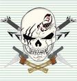 Sword skull gun vector