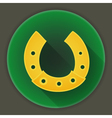 St patrick day horseshoe icon vector