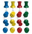 Color pushpins vector