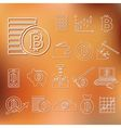 Bitcoin outline icons vector