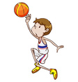A young basketball player vector