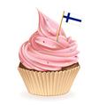 Finnish cupcake vector