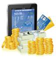 Financial concept - make money on the internet vector