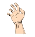 Mans hand isolated on white vector