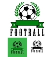 Set of football or soccer emblems vector
