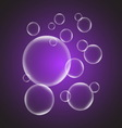 Abstract background with violet glossy bubble vector