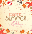 Happy summer holidays vector