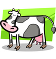 Cartoon doodle of farm cow vector