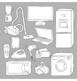 Home appliances and electronics icons vector