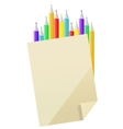 Blank paper and pencils vector