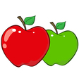 Red and green apples vector