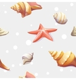 Seamless texture with the image of seashells vector