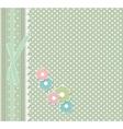 Retro fashion floral greeting card vector