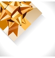 Gift box and big gold bow vector