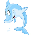 Cute dolphin cartoon - vector