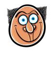 Foolish cartoon face vector