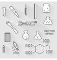 Set of scientific icons vector