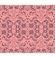 Pink lace doily vector