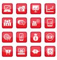 Financial icons set vector