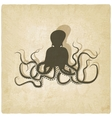 Octopus on old background vector