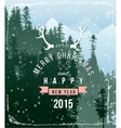 Landscape with christmas type design vector