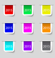 Happy new year 2015 sign icon calendar date set of vector