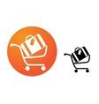Baggage cart vector