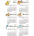 Six months calendar 2014 vector