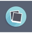 Icon of two instant photo frames in flat style vector
