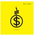 Creative financial and economic logo design vector