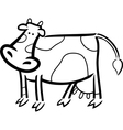 Cartoon doodle of farm cow for coloring vector