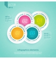 Colored icons for four steps vector