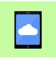 Flat style touch pad with cloud vector