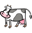Cartoon doodle of farm cow vector