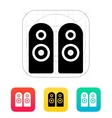 Two audio speakers icon vector